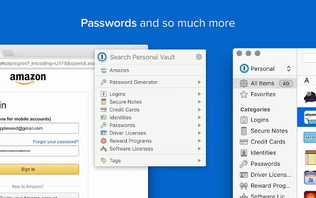 1Password extension (desktop app required) :: My Extensions